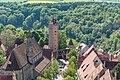 Rothenburg ob der Tauber, Franziskanerkirche, Burgtor, vom Rathausturm 20170526 001.jpg