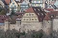 Rothenburg ob der Tauber, Stadtbefestigung, Burggasse 7b, 5, Stadtmauer-20160108-001.jpg