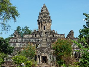 Khmer Empire - Bakong, one of the earliest temple mountains in Khmer architecture