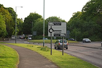A264 road - Image: Roundabout on the A264 and slip road to the A21 geograph.org.uk 1302308