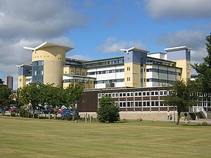 Royal Aberdeen Children's Hospital - View of the hospital behind the Westburn Centre
