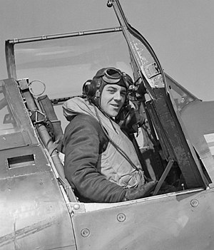 Roland Beamont - Squadron Leader R P Beamont of No. 609 Squadron RAF, in his Hawker Typhoon Mark IB
