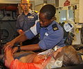 Royal Navy Medic Treats a Casualty During an Exercise MOD 45153428.jpg