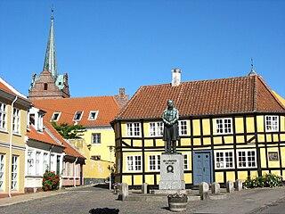 Rudkøbing human settlement in Denmark