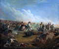 Russian Guard Hussars attacking Warsaw 7th September 1831.PNG