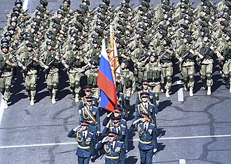 Russian 102nd Military Base - Troops of the base during a parade in Yerevan in 2016.