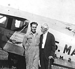 Ryan Brougham airplane with Bud Gurney and Kennesaw Landis.jpg