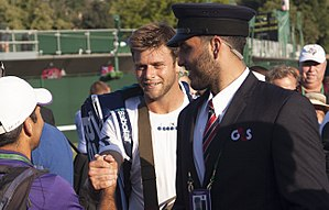 Ryan Harrison (tennis) - Ryan Harrison congratulated after Wimbledon win