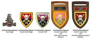 14 Field Artillery Regiment - SADF 14 Artillery Regiment insignia
