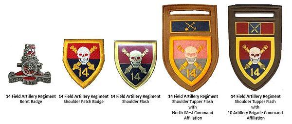 SADF 14 Artillery Regiment insignia