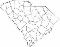 Location of Ridgeland, South Carolina