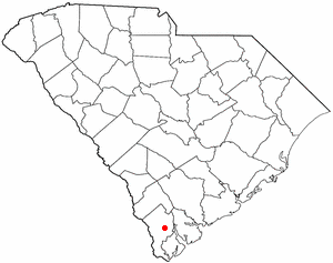 Ridgeland, South Carolina - Image: SC Map doton Ridgeland