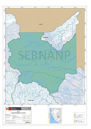 Alto Purús National Park - Alto Purús National Park. Official map.