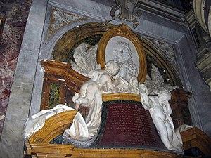 Giovanni Battista Maini - Maini. Monument to Scipione Publicola Santacroce (1749).  Santa Maria in Publicolis, Rome.