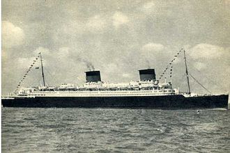 SS Europa (1928) - Sailing as SS Liberté in the 1950s