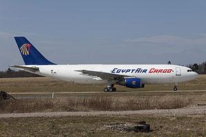 EgyptAir Cargo -  An EgyptAir Cargo A300F at Frankfurt–Hahn Airport, Germany in 2010.