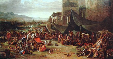 May 6: Spanish and German troops sack Rome. Sack of Rome of 1527 by Johannes Lingelbach 17th century.jpg