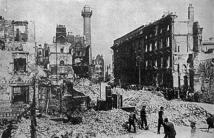 Sackville Street (now O'Connell Street), Dublin, after the 1916 Easter Rising Sackville Street (Dublin) after the 1916 Easter Rising.JPG