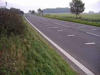 A148 road - Speed camera site at Bale