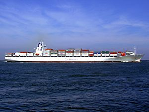 Safmarine Nomazwe p11 approaching Port of Rotterdam, Holland 19-Apr-2007.jpg