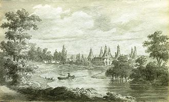 Anne Marie Louise d'Orléans, Duchess of Montpensier - A view of Saint-Fargeau where Mademoiselle stayed in her exile