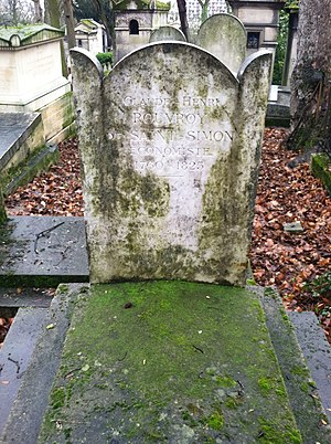 Claude Henri de Rouvroy, comte de Saint-Simon - Saint-Simon's grave in Père Lachaise Cemetery, Paris