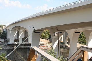 I-35W Saint Anthony Falls Bridge bridge in Minneapolis, Minnesota