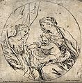 Saint Mary (the Blessed Virgin) with the Christ Child and Ca Wellcome V0033987.jpg