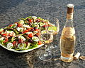 Salade niçoise avec Rosé Château de Selle, Domaines Ott.jpg