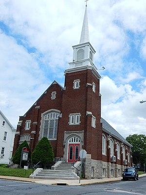 Shoemakersville, Pennsylvania - Image: Salem UMC, Shoemakersville Berks Co PA
