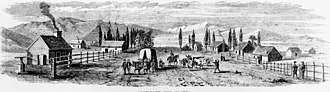 History of Salt Lake City - Salt Lake City in 1850.