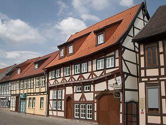 Salzwedel - Typical old housing in Salzwedel