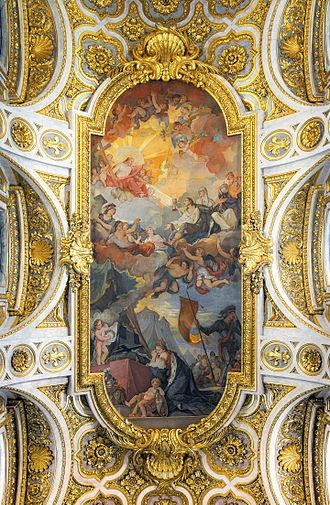 San Luigi dei Francesi - Ceiling by Charles-Joseph Natoire