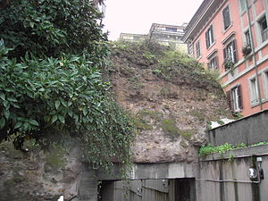 Viale Aventino - Remains of the Servian Wall facing on Viale Aventino.
