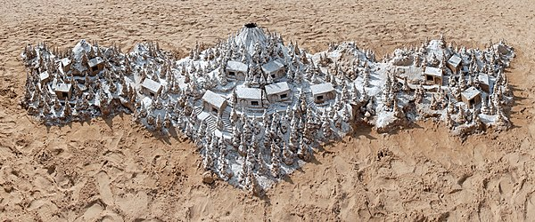Sand sculpture at the beach of Puerto de Mogán, Gran Canaria