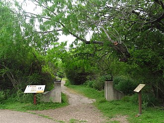 Santa Ana National Wildlife Refuge - The Old Cemetery on the grounds of the refuge predates the Treaty of Guadalupe-Hidalgo