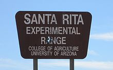 Santa Rita Experimental Range Sign Arizona 2014.jpg