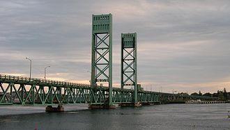 Sarah Mildred Long Bridge - The original Sarah Mildred Long Bridge, as seen from Kittery, ME