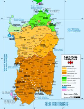 Cartina Politica Sardegna Wikipedia.Italiano Regionale Della Sardegna Wikipedia
