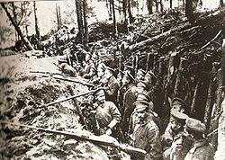 Orosz lövészárok a sarıkamışi erdőben