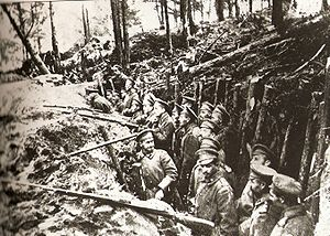 Caucasus Campaign - Russian trenches at the Battle of Sarikamish.