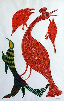 Painting by Bhuri Bai