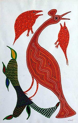 Bhil people - Image: Sarmaya Arts Foundation Bhuri Bai Bhil