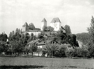 Burgdorf, Switzerland - Burgdorf castle in 1895