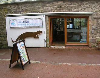 New Lanark - The Scottish Wildlife Trust visitor centre for the Falls of Clyde nature reserve.