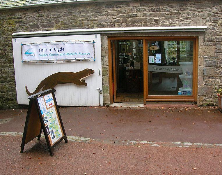 The Scottish wildlife Trust visitor centre at New Lanark, Lanarkshire, Scotland