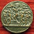 Scuola romana, medaglia di adriano VI, verso con papa incoronato da due cardinali, 1522.JPG