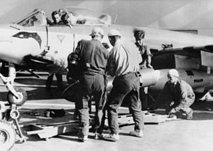 Sea Hawk armed on HMS Eagle (R05) Suez 1956.jpg
