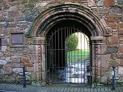 Seagate Castle, entrance doorway and pend, Irvine.JPG
