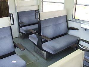Chichibu Railway 3000 series - Image: Seat of Chichibu Railway 3000